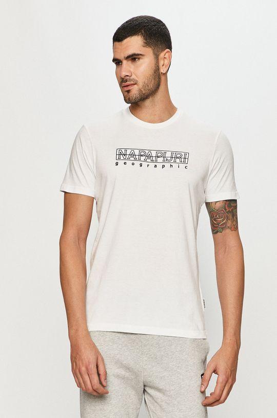 biały Napapijri - T-shirt Męski