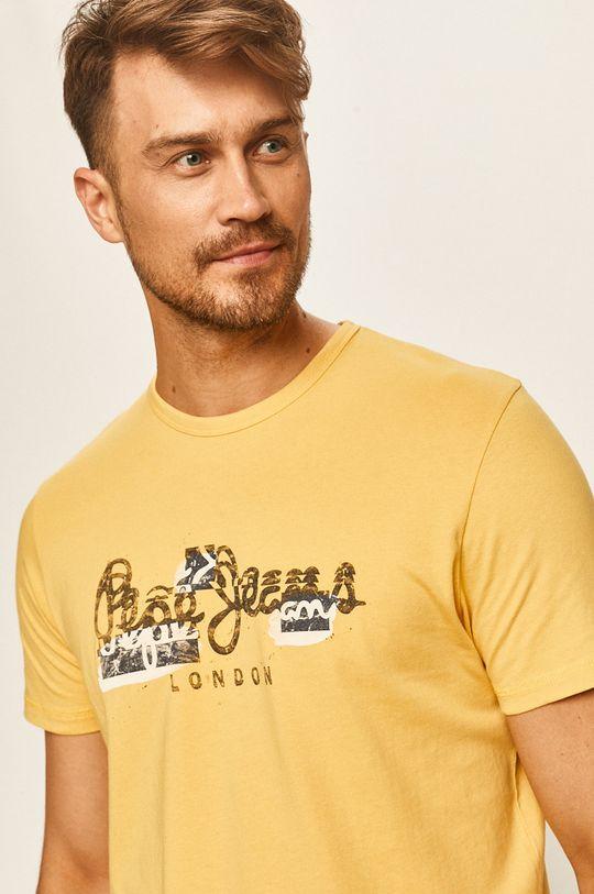 žlutá Pepe Jeans - Tričko Salomon Pánský