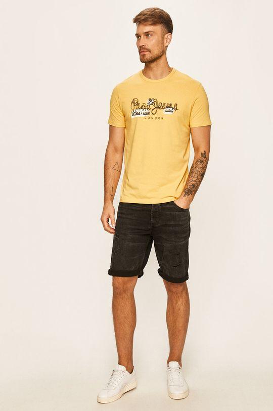 Pepe Jeans - Tričko Salomon žlutá