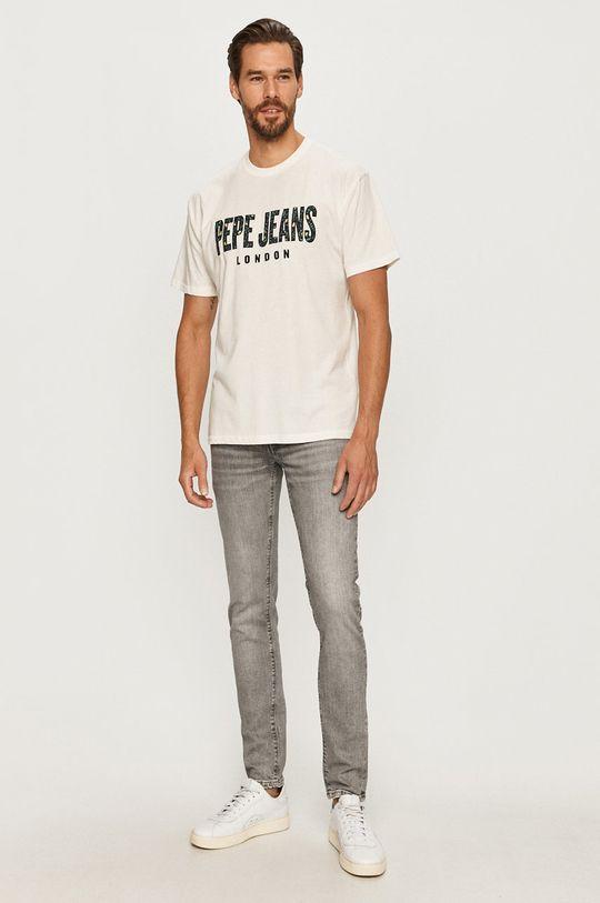 Pepe Jeans - Tričko Salvador bílá