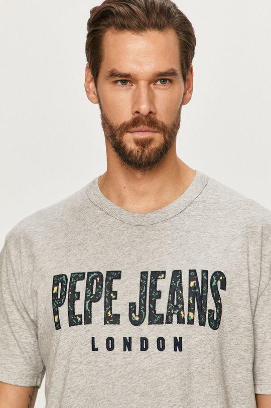 szary Pepe Jeans - T-shirt Salvador