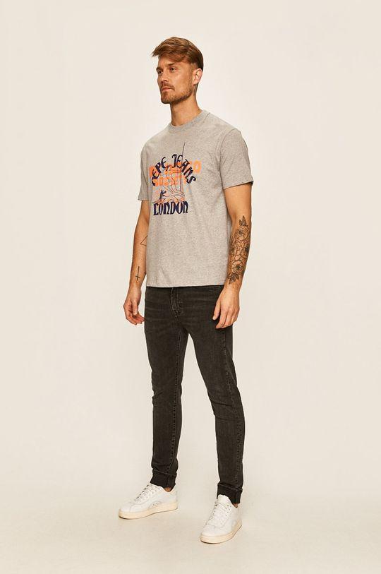 Pepe Jeans - Tričko Samson šedá