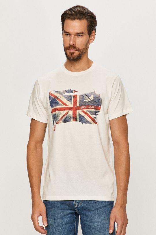 biały Pepe Jeans - T-shirt Sid Męski