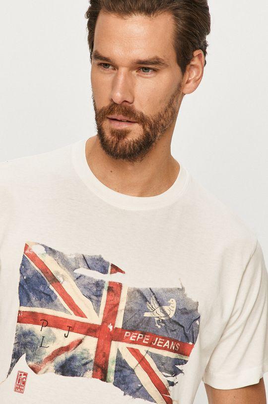 biały Pepe Jeans - T-shirt Sid