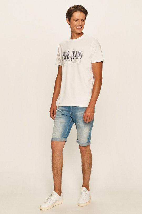 Pepe Jeans - T-shirt Snow biały