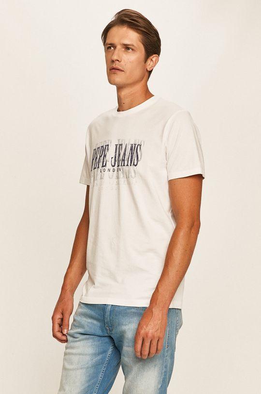 biały Pepe Jeans - T-shirt Snow