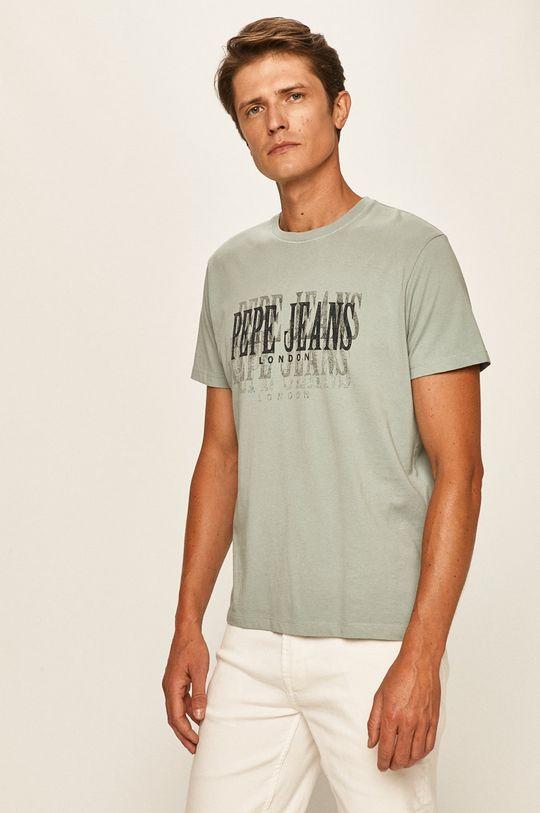 tlumená zelená Pepe Jeans - Tričko Snow Pánský