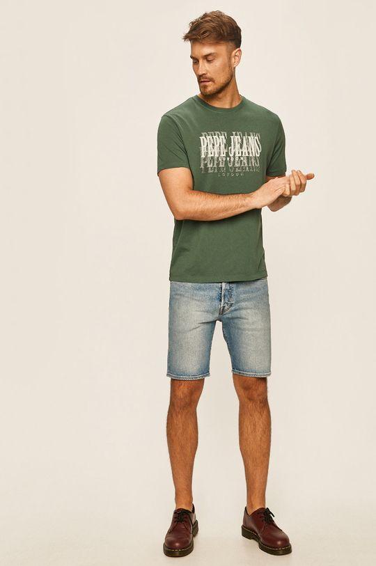 Pepe Jeans - Tričko Snow tlumená zelená