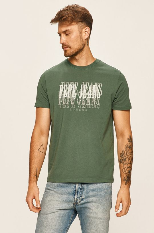 tlumená zelená Pepe Jeans - Tričko Snow