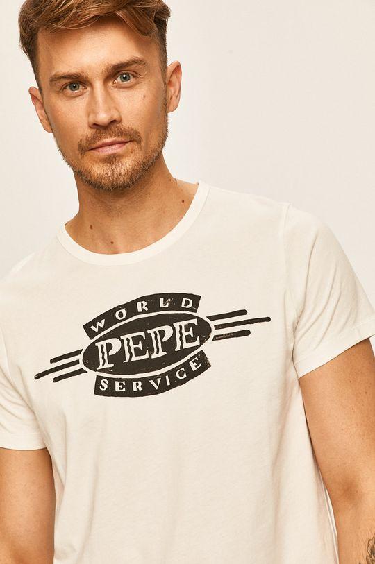 bílá Pepe Jeans - Tričko Devon Pánský