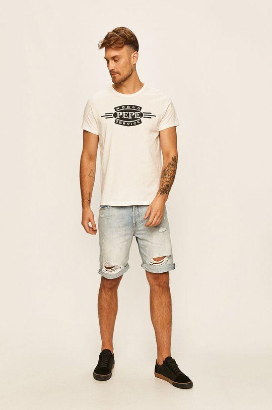 Pepe Jeans - Tričko Devon bílá