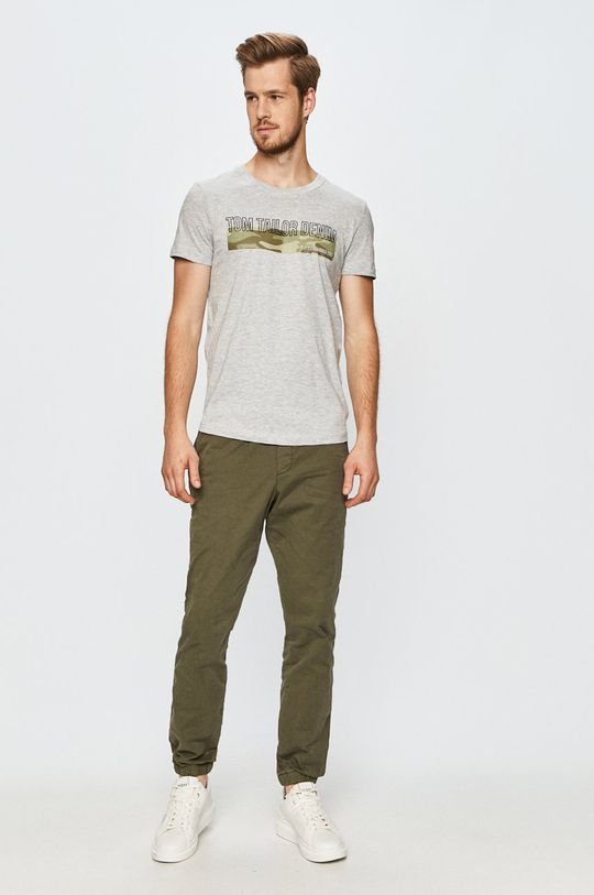 Tom Tailor Denim - T-shirt jasny szary
