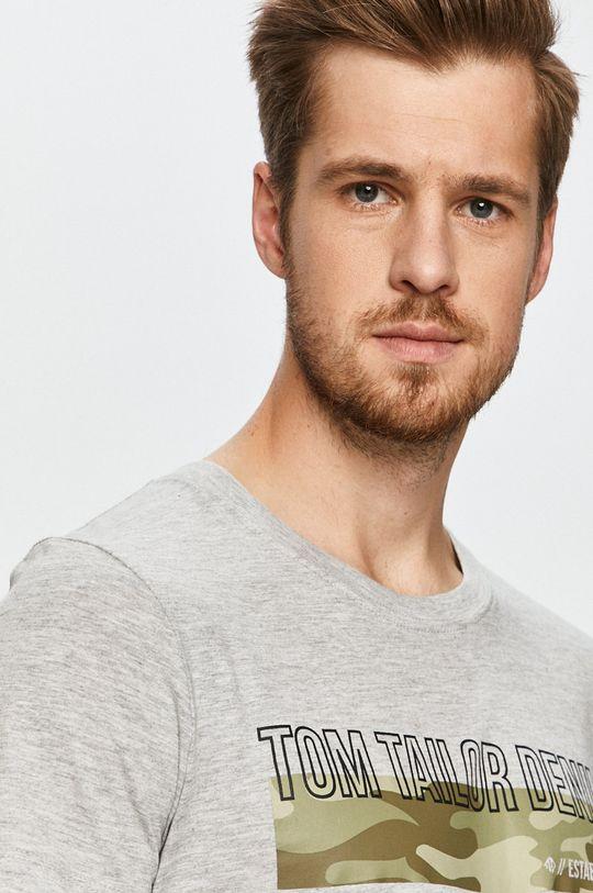 jasny szary Tom Tailor Denim - T-shirt