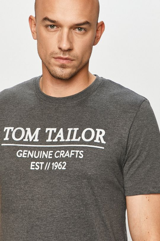 šedá Tom Tailor Denim - Tričko Pánský