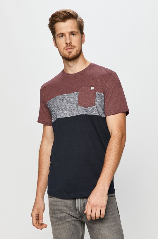 mahoniowy Tom Tailor Denim - T-shirt Męski