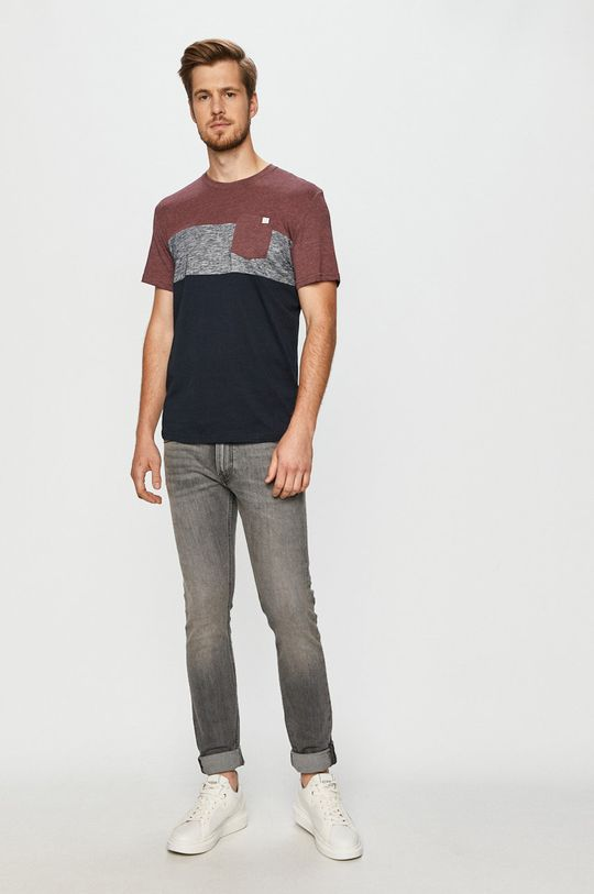 Tom Tailor Denim - T-shirt mahoniowy