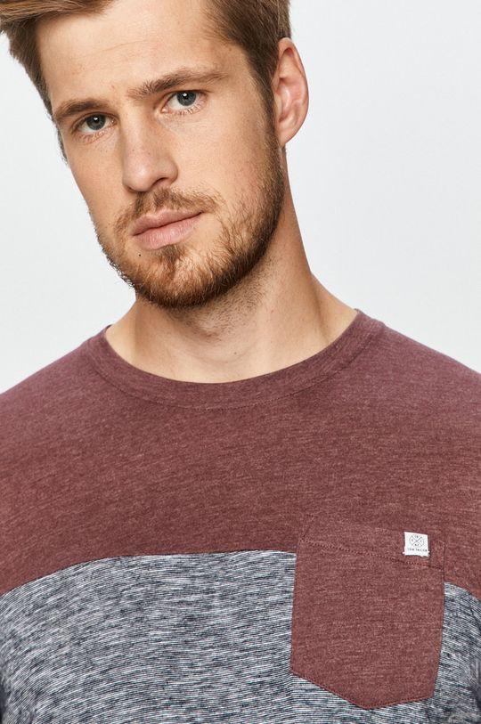 mahoniowy Tom Tailor Denim - T-shirt