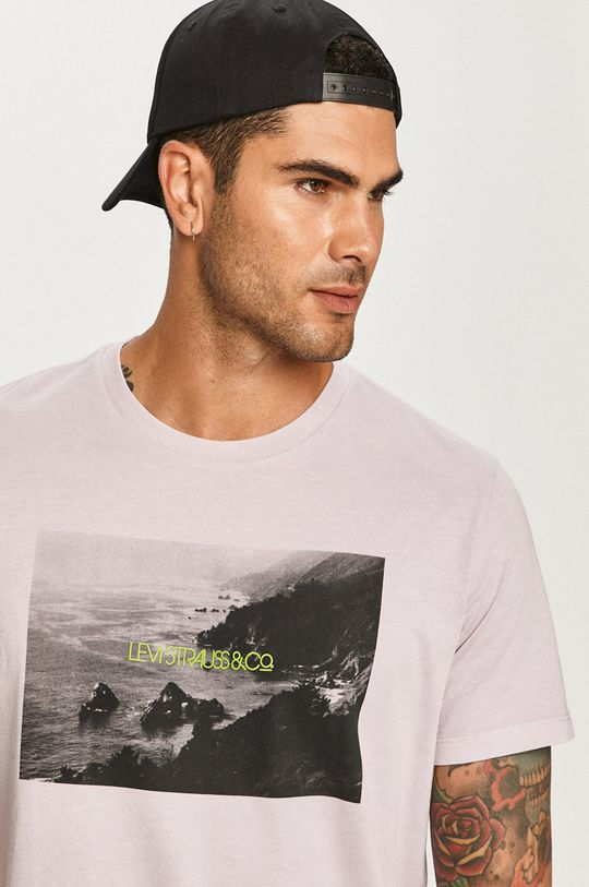 lawendowy Levi's - T-shirt Męski