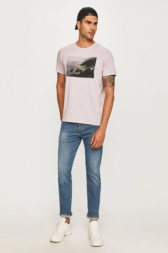 Levi's - T-shirt lawendowy