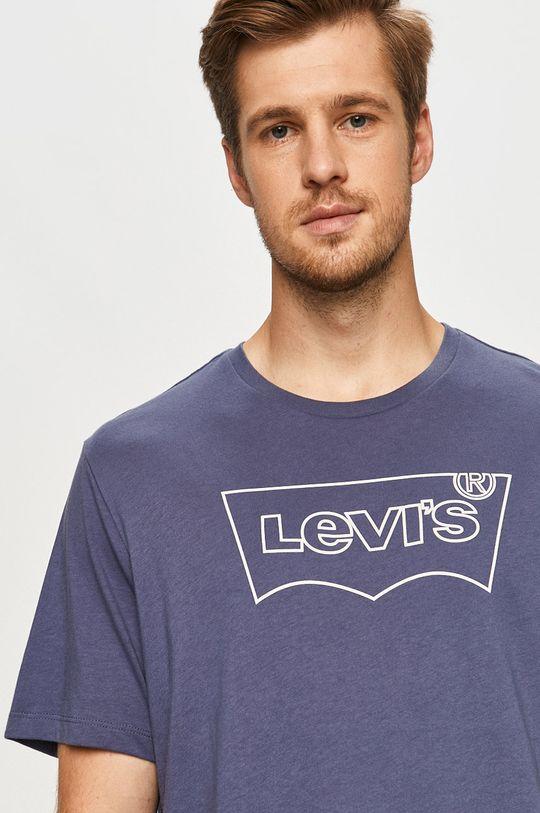 niebieski Levi's - T-shirt Męski