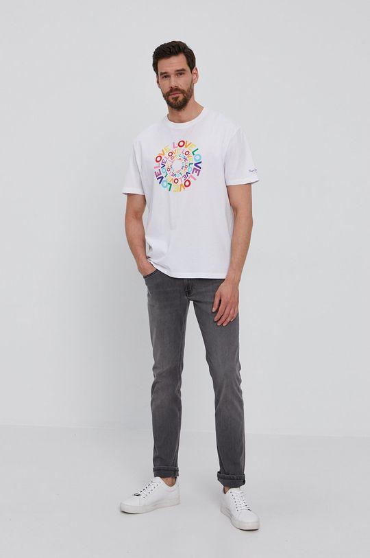Pepe Jeans - Tričko Johnson Pride bílá