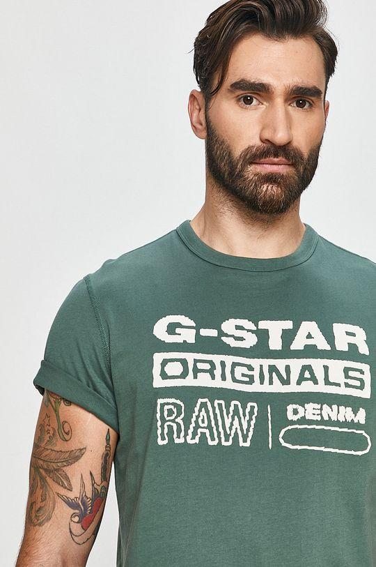 světle tyrkysová G-Star Raw - Tričko