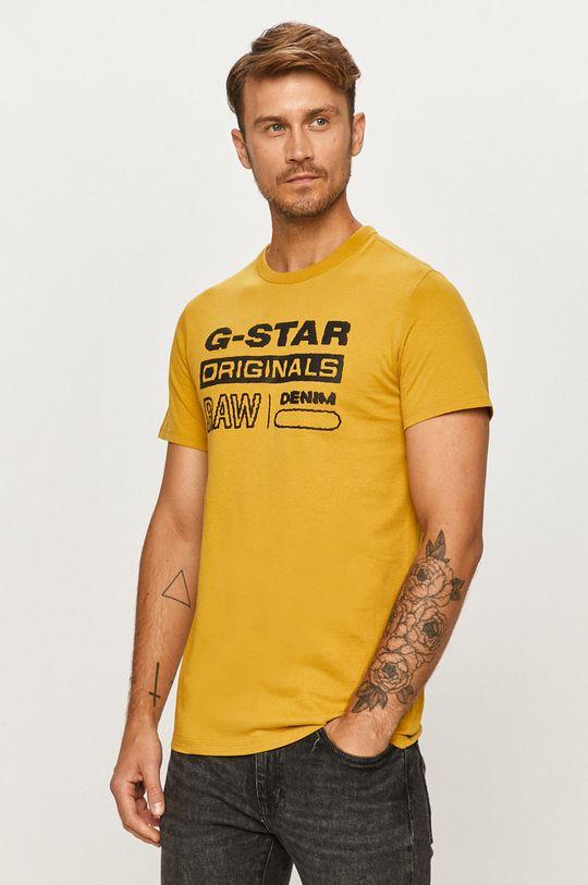 žltá G-Star Raw - Tričko Pánsky