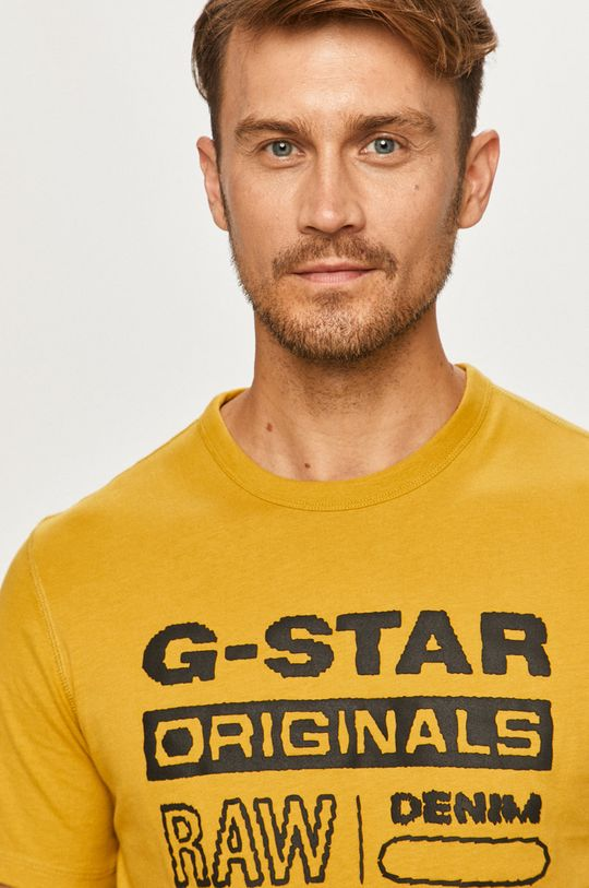 žltá G-Star Raw - Tričko