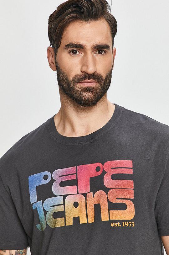 grafitová Pepe Jeans - Tričko Dan