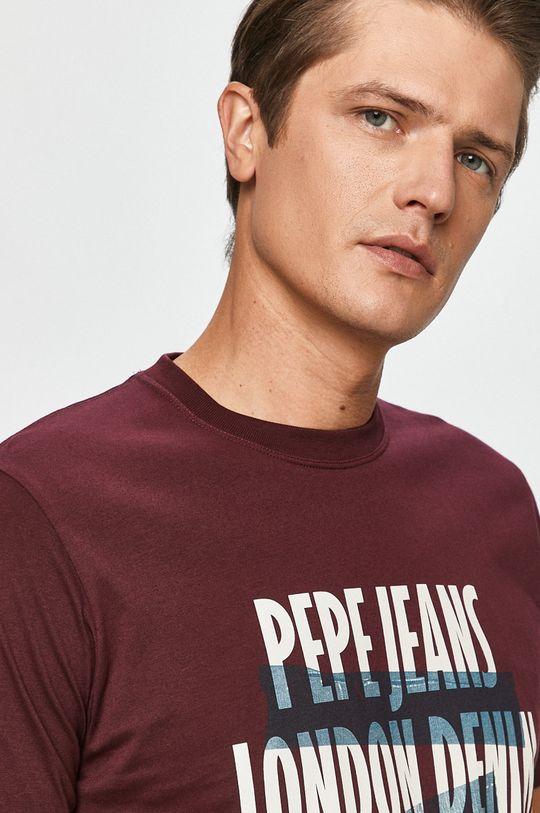 purpurowy Pepe Jeans - T-shirt Curtis