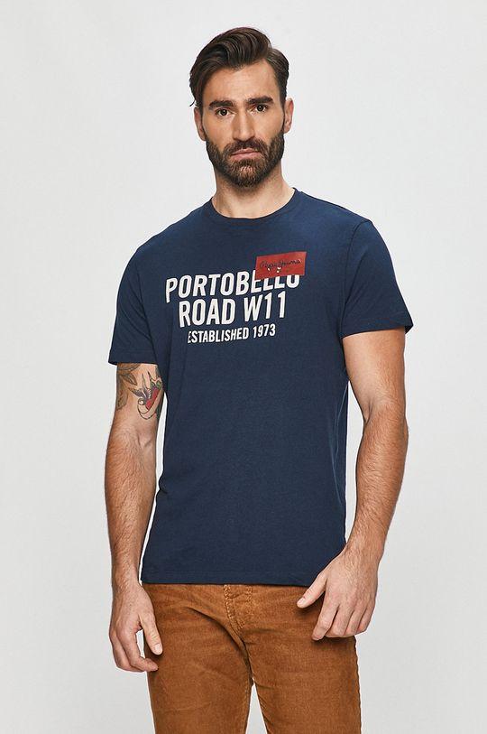 granatowy Pepe Jeans - T-shirt Broderick Męski