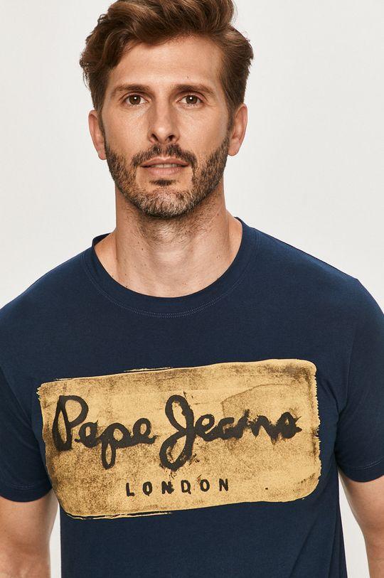 tmavomodrá Pepe Jeans - Tričko Charing