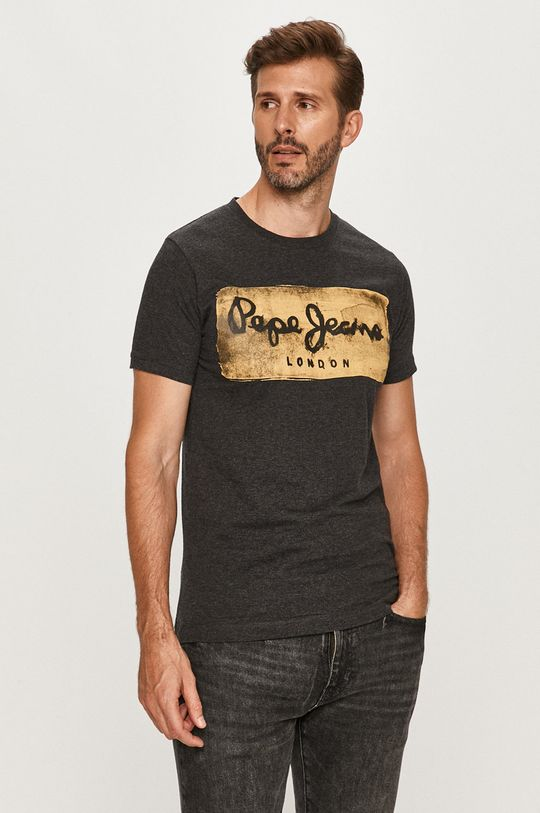 sivá Pepe Jeans - Tričko Charing Pánsky
