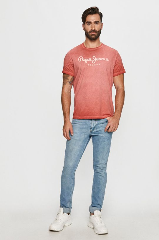 Pepe Jeans - T-shirt West Sir piros