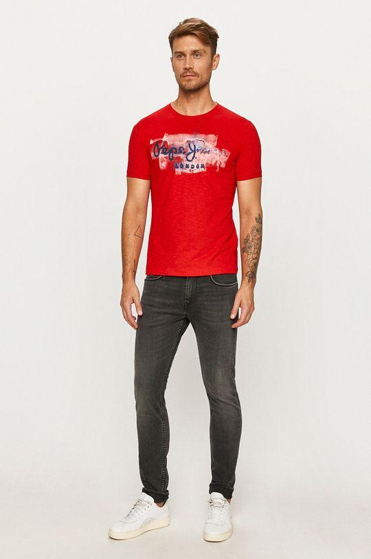 Pepe Jeans - Tričko Golders červená