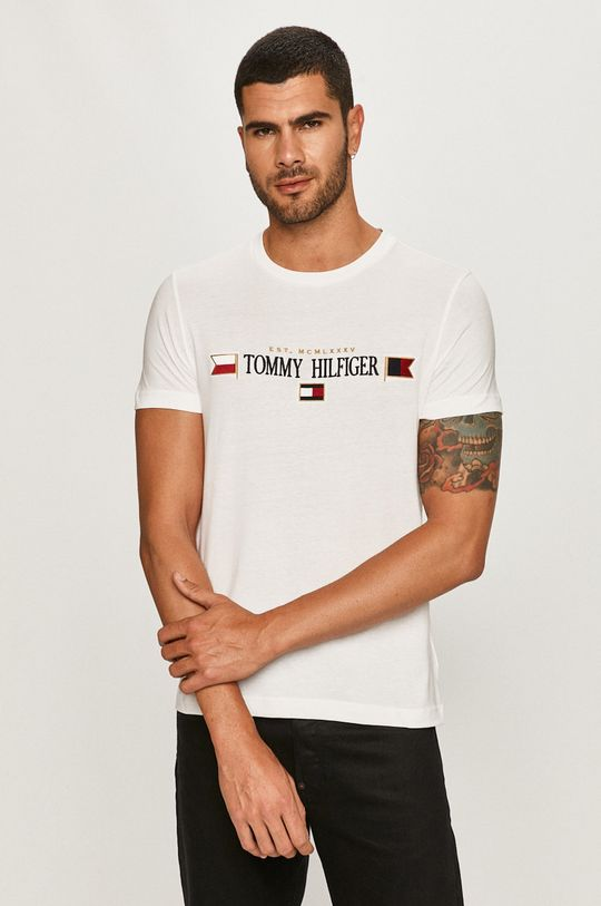 biela Tommy Hilfiger - Tričko Pánsky