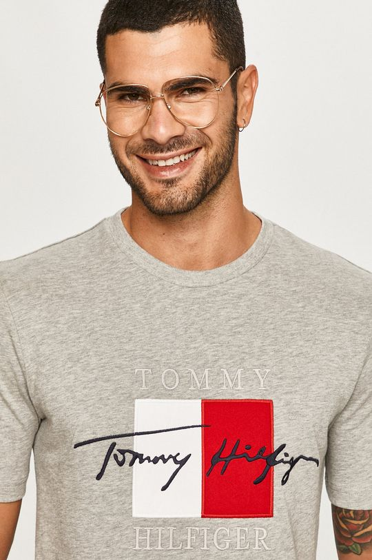 sivá Tommy Hilfiger - Tričko Pánsky