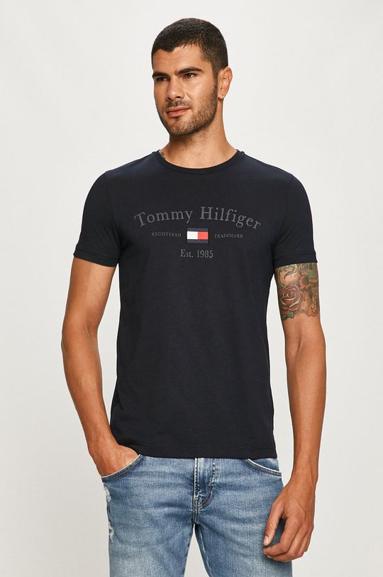 tmavomodrá Tommy Hilfiger - Tričko