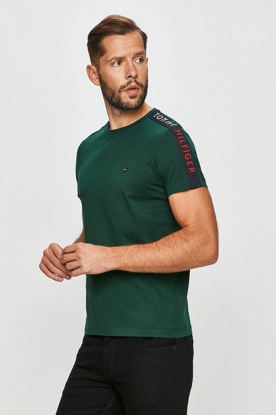 tmavě zelená Tommy Hilfiger - Tričko