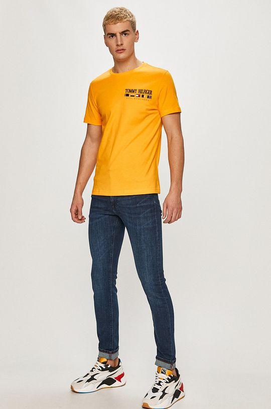 Tommy Hilfiger - Tričko oranžová