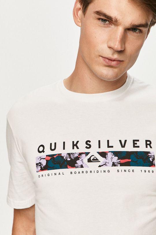 biela Quiksilver - Tričko Pánsky