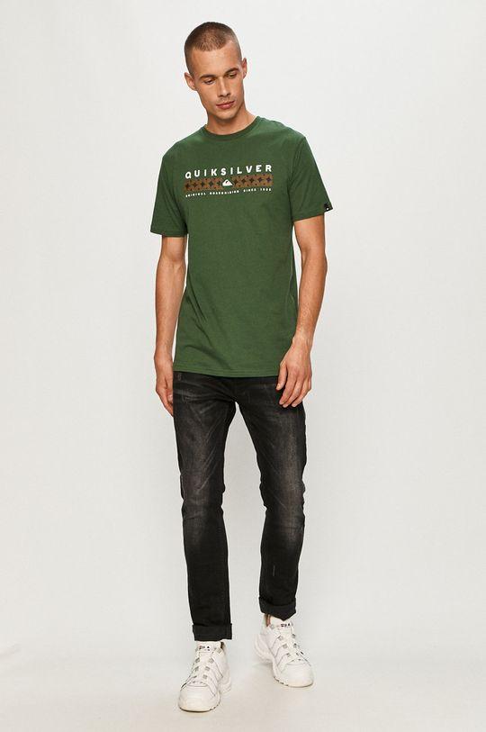 Quiksilver - T-shirt ciemny zielony