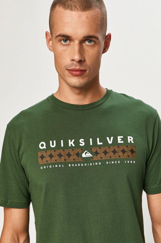 ciemny zielony Quiksilver - T-shirt