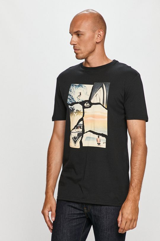 negru Quiksilver - Tricou De bărbați