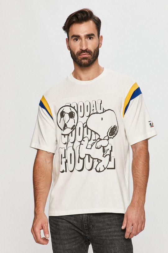 biały Levi's - T-shirt X Peanuts Męski