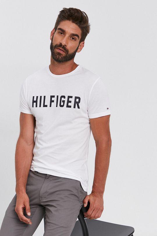 biały Tommy Hilfiger - T-shirt bawełniany Męski