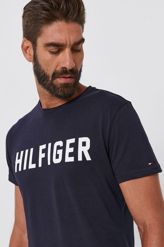 granatowy Tommy Hilfiger - T-shirt bawełniany Męski