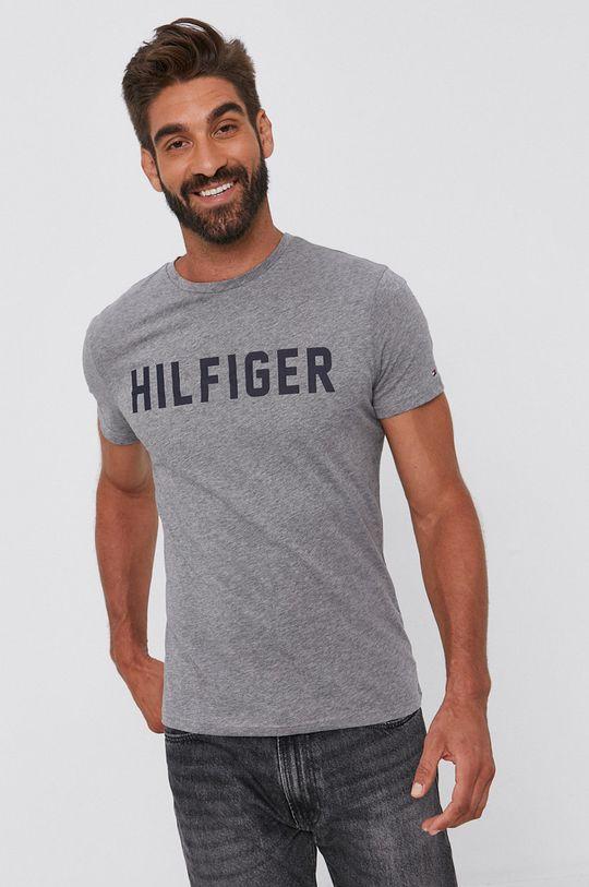 szary Tommy Hilfiger - T-shirt bawełniany Męski