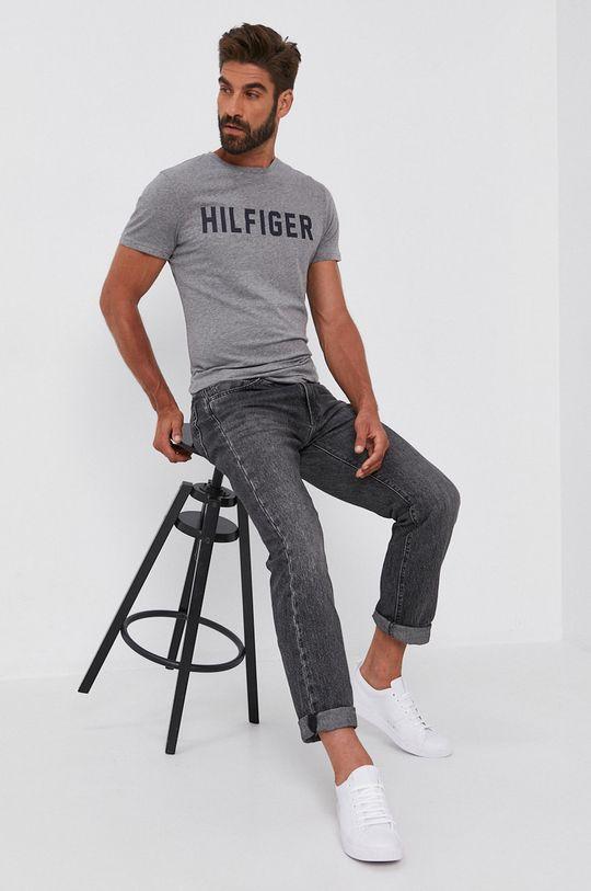 Tommy Hilfiger - T-shirt bawełniany szary