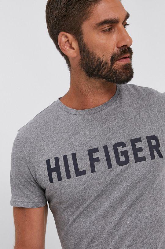 szary Tommy Hilfiger - T-shirt bawełniany